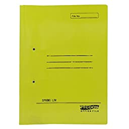 A4 Document File Folder Double Clip File Folder Report Paper Storage Folder Office Accessories Supplie - Pack of 5