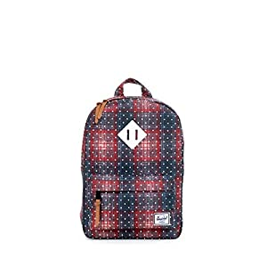 Herschel Supply Co. Heritage Kids, Rust Plaid Polka Dot/White Rubber, One Size