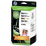HP 364 - Pack de 4 cartuchos HP 364, negro, cian, magenta y amarillo
