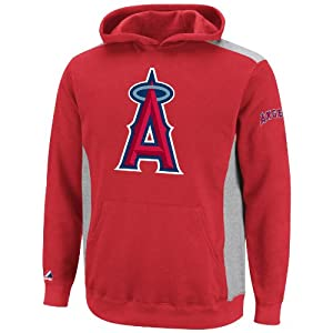 MLB Los Angeles Angels Lil Catcher Athletic Red Steel Heather Long Sleeve Hooded... by Majestic
