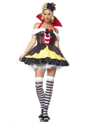 Queen Of Hearts 3Pc Md Adult Womens Costume - Leg Avenue