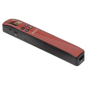Avision - MiWand2 tragbarer Scanner (4GB MicroSD Karte, USB 2.0) rot