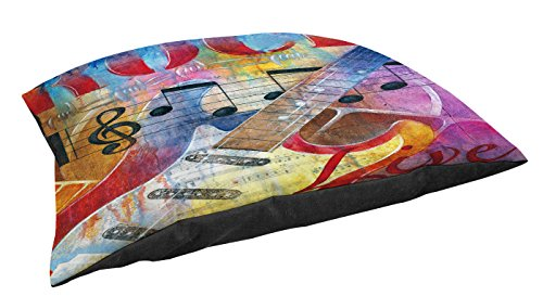 Thumbprintz Indoor/Outdoor Large Breed Pet Bed, Rock To Live, Multi Colored front-464313