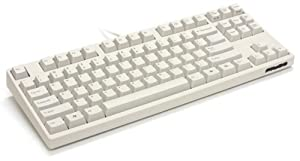 White Filco Majestouch-2, Tenkeyless, NKR, Tactile Action, USA Keyboard FKBN87M/EW2
