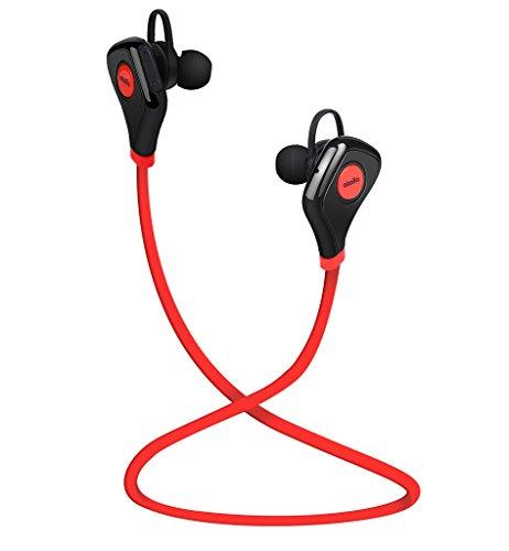 Atolla S5 V4.1 Auricolari Bluetooth In Ear Cancellazione Rumore Stereo con Microfono APTX Tecnologia cuffie Sport wireless senza fili per Corsa Esercizio Palestra per iPhone 6s 6 SE iPad Samsung Galaxy S6 S5 Huawei e altri Smartphone Android e Laptop PC(Rosso)