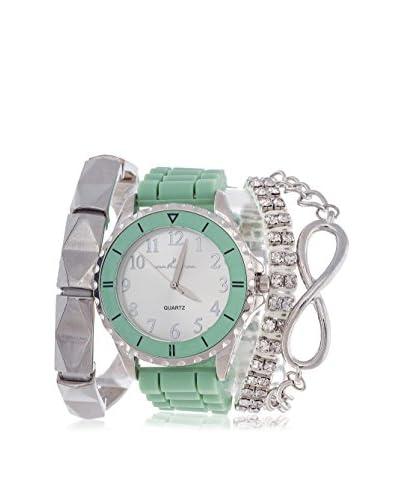 Arm Candy Women's NXS5068LG1SET 4 Piece Set Green Stainless Steel/Metal Watch