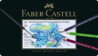 カステル デューラ水彩色鉛筆 36色 缶入117536