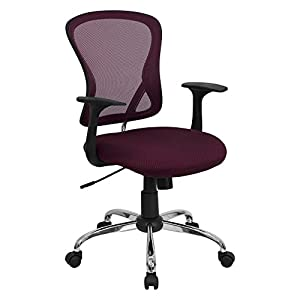 Flash Furniture Mid-Back Black Mesh Office Chair with Chrome Finished Base