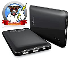 External Battery Charger - Portable Dual-Port USB 10000mAH Backup Power Bank BEST Pack for any iPhone Galaxy S3 S4 S5 S6 Samsung Note3 iPad (Air Mini) HTC Evo Nexus 5 7 10 Google Glasses Sony Smartwatch LG Optimus GoPro camera Vapor Cigarette and just about any mobile cell phone or other wireless devices. Plus - Our Chargers Include A Money Back Guarantee!