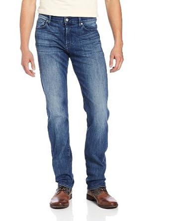 7 For All Mankind Men's Slimmy Slim Straight Leg Luxe Performance Jean in Nakkitta, Nakkitta Blue, 28X34