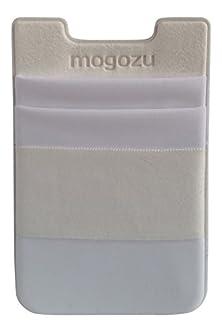 buy Mogozu Stick On Card Holder With Finger Strap For Phone (White)