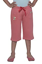 Menthol Girls Capri (7-8 Years, British Red)