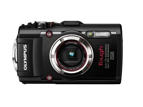 """Olympus Stylus TG-3 Fotocamera Digitale Olympus 16 MP, Sensore CMOS, Zoom Ottico 4x, LCD da 7,6 cm/3"""", Full HD, Nero"""