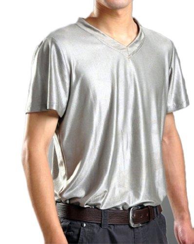 Emf Radiation Shield Men T-Shirt V-Neck Health Safety Protection Suit 8900635