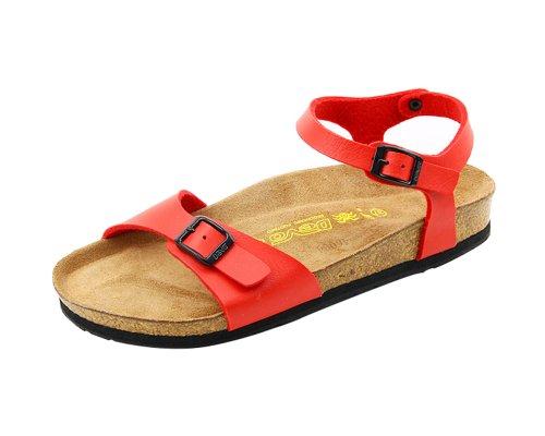 Devo Women's Ladies Fashionable Back Strap Soft Cork Covered Summer Beach Sandal Slides
