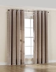 Eyelet Faux Silk Curtains