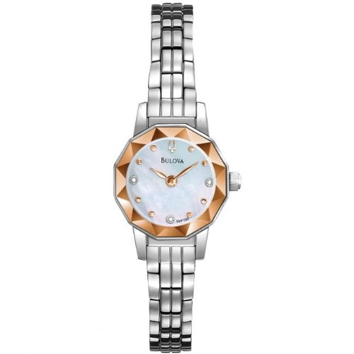 Bulova 96P130 Ladies Diamond White Steel Watch