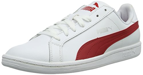 Puma Unisex-Erwachsene Smash L Sneakers, Weiß (White-Barbados Cherry 18), 39 EU thumbnail