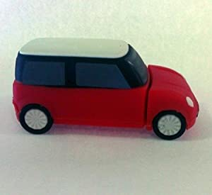 Euroge Tech 8GB USB Flash Drive Memory Stick Mini Cooper Red