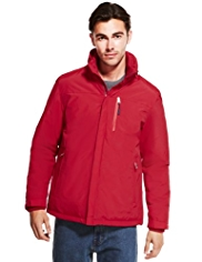 Concealed Hood Mock Layer Jacket with Stormwear™