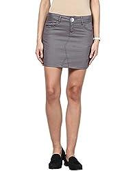 Upperclass Women's Skirt (8903862957104_Grey_26)