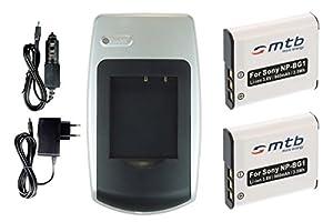Chargeur + 2x Batteries NP-BG1 pour Sony