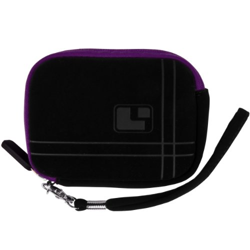 Purple Sumaclife Microfiber Suede Camera Case Pouch With Neoprene Bubble Padding For Leica C-Lux 3 Point And Shoot Compact Digital Camera