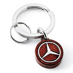 Mercedes benz burlwood slider key chain for Mercedes benz key chain