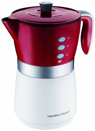 Hamilton Beach 43700 5-Cup Personal Coffee Brewer, Red made by Hamilton Beach from Coffee Maker ...