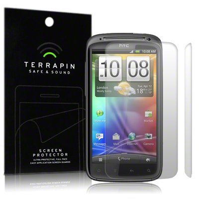 HTC SENSATION /SENSATION XE SCREEN PROTECTOR CASE / GUARD / FILM / COVER, 2-IN-1 PACK BY TERRAPIN