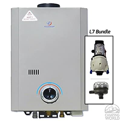 Eccotemp Systems L7 Pump/Strainer Bundle L7 Tankless Water Heater with Flojet Pump and Strainer
