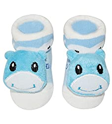 Wonderkids Blue Cow Baby Socks Booties