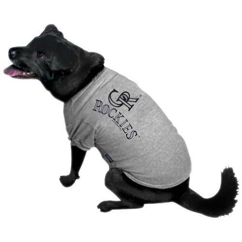 322c99187 If you are looking for an MLB Colorado Rockies Ash Logo Pet T shirt Large -  . Take a look here you will find reasonable prices and many special offers.
