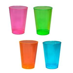 Northwest Enterprises Hard Plastic 12-Ounce Party Cups, Assorted Neon, 40 Count from Northwest Enterprises
