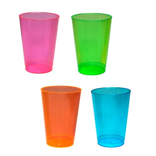 Purchase Northwest Enterprises Hard Plastic 12-Ounce Party Cups, Assorted Neon, 40 Count
