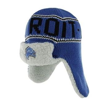 NFL Detroit Lions Mens Yeti Knit Cap, One Size, Blue Razz by