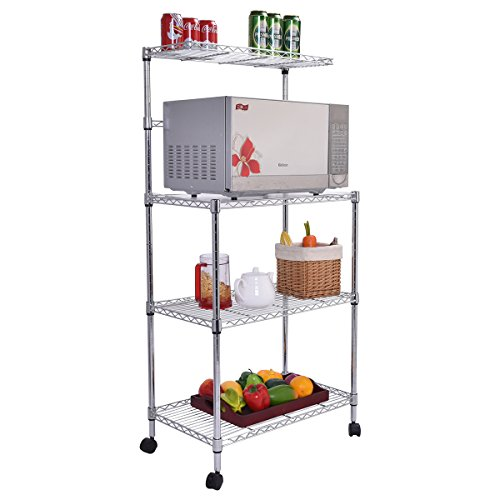 NEW 3-Tier Kitchen Baker's Rack Microwave Oven Stand Storage Cart Workstation Shelf (Above Range Convection Oven compare prices)