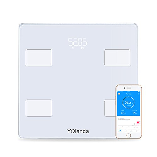 marsboy スマートスケール 体重体組成計 インナースキャンデュアル 体重/体脂肪/筋肉量/推定骨量/体脂水分/BMIなど Bluetooth対応 iPhone/Androidアプリで健康管理 CS20A ホワイト