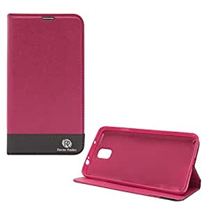 Popular Raiders Magnetic Wallet Flip Folio Stand Book Cover Case For Samsung Galaxy Note 3 N9000 (Pink)
