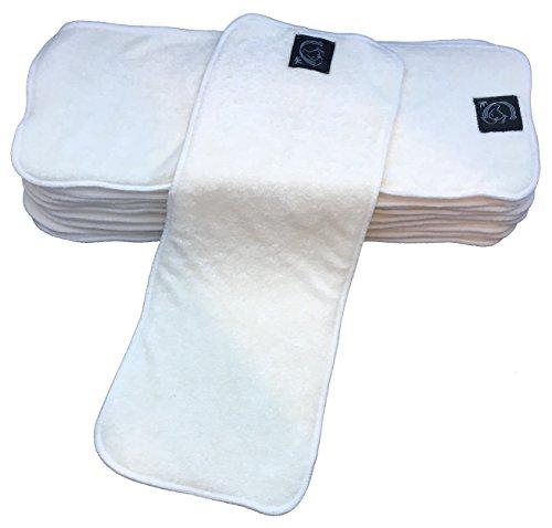 Kernow Kloth asciutto in microfibra/carbone/100% puro bambù panno assorbente inserti del pannolino Boosters, asciugatura rapida