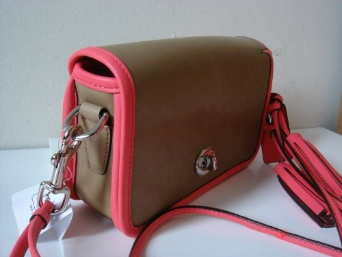 Coach   COACH Leather Legacy Archival Penny in Light Sand / Watermelon 22406