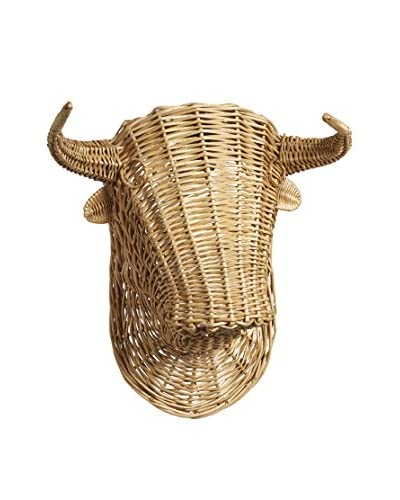 Wicker Steer Head, Brown