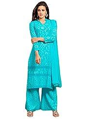 Pure Cotton Dress With Plazo Style - B0196775JG