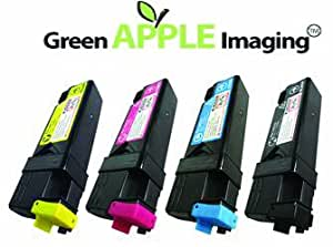 Green Apple Imaging © Dell 2150cn / 2150cdn / 2155cn / 2155cdn 2,500 Pages High Yield Remanufactured 4PK Toner Cartridges