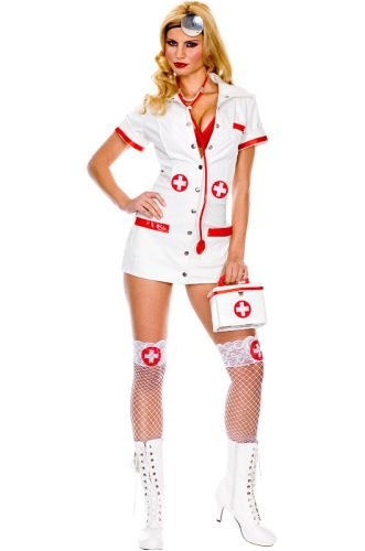 ALL NEW Sexy Doctor or Nurse Costume (No Purse) Stockings included Here!