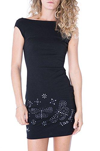 DESIGUAL - Vestito donna manica corta clotilde xxl nero