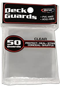 1 (One) Pack of BCW Deck Guard - Clear Sleeves (Pack of 50) Standard Size Deck Protectors - Ideal for CCGs & TCGs Card Games!