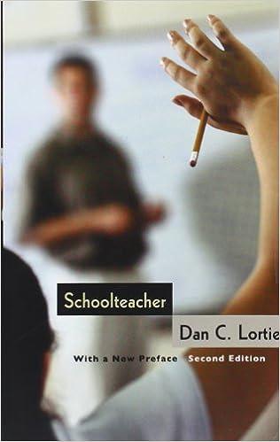 cover of Dan Lortie's Schoolteacher