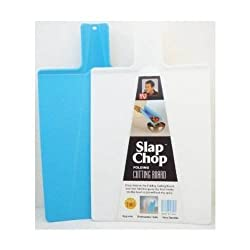 Slap Chop Folding Cutting Board - 2 for 1 as seen on TV Blue & White - 2 Board