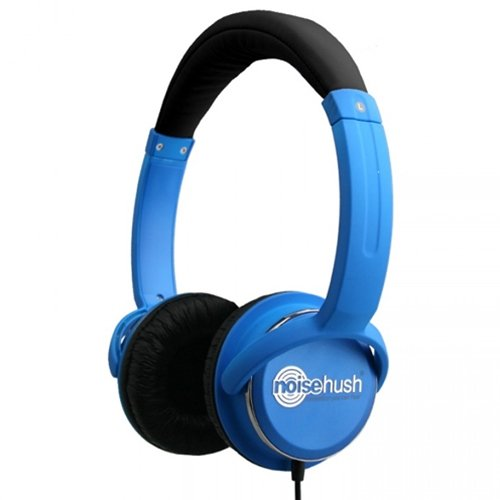 Noisehush Nx26-11952 3.5Mm Stereo Headphones With In-Line Mic For All Apple Ipad/Iphone/Ipod/Mps Players/Laptops, Blue